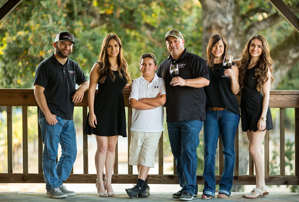 Andy & Marissa Amador, Owners, MadoroM Vineyards, with their family (Todd, Isabelle, Matt, & Haley)